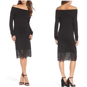 Chelsea28 Off the Shoulder Sheath Dress Sold Out